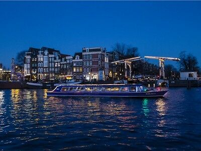 Evening boat Cruise for 2 persons Amsterdam with 2 drinks