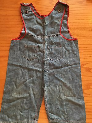 1940S Childrens Denim Cotton Coveralls Overalls Jim Dandy Kuh Bros San Fransisco