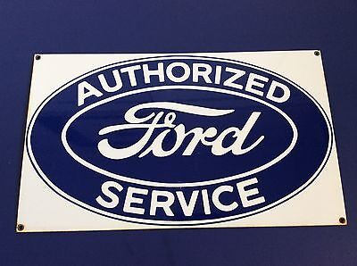 Vintage FORD Authorized Service Sign Porcelain Advertising Ande Rooney ?