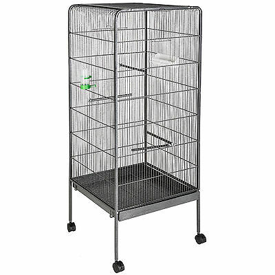 Cage for birds, agapornis, nymphs, parrots, large size with wheels