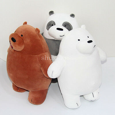 Cartoon We Bare Bears Plush Toys Stuffed Doll Soft Pillow Cute Gifts