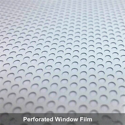 Perforated One Way Vision Print Media Vinyl White Wrap Roll Privacy Window Film