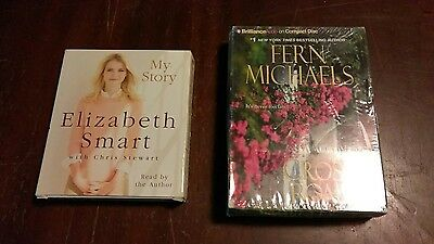Lot of 2 books on cd Elizabeth. Smart. My story.   Fern. Michaels. Cross road