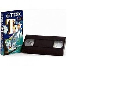 TDK E 240 TV Blank Tapes Pack of 10