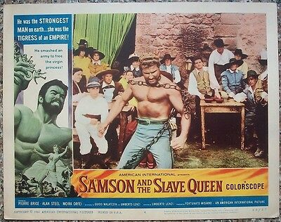 """Samson and the Slave Queen 11"""" x 14"""" Lobby Cards x 5 BRICE Orfei"""