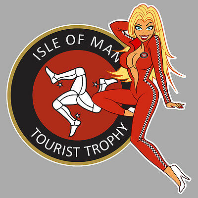Isle Of Man Tt Pinup Moto Gp Superbike Racing Track Autocollant Sticker Pc177