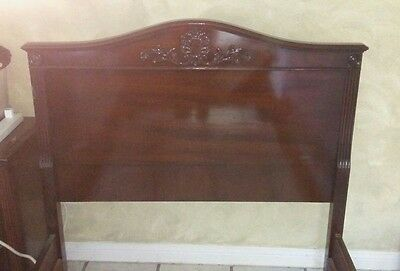 Two (2) Matching Vintage Twin Wood Beds 1930-40s