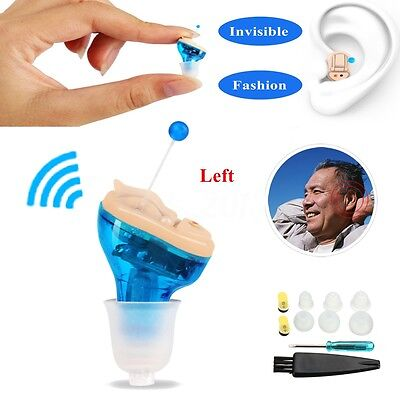 Invisible Hearing Aid Enhancer Portable In Ear Sound Voice Amplifier Left CIC