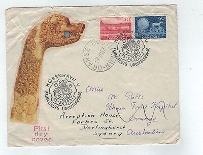 1957  Denmark   Cover   National Museum pair FDC