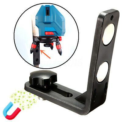 5/8'' inch Laser Level Magnetic Attract L Bracket Leveling Support Holder Stand