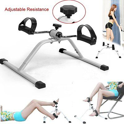 Arm/Leg Seated Pedal Exerciser Mini Exercise Bike Adjustable Resistance Mobility