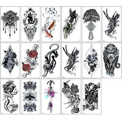 3D Tattoo Waterproof Stickers Removable Body Temporary Arm Fake Art Sticker