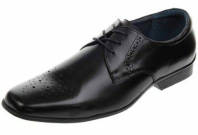 Hush Puppies Moderna Oxford H103830 Black Lace Up Large Size LAST PAIR EU 51