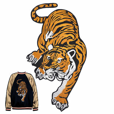 2017 Tiger Big Cat Embroidered Iron Sew On Patch Applique Badge Lion Panther