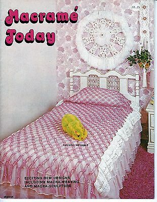 Vintage Macrame Today Magazine 1970s Macra Weaving Sculpture Bedspread Hangings