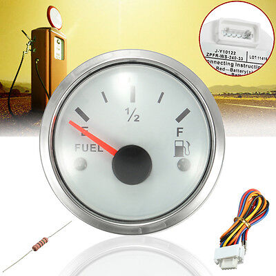 Boat Marine Fuel Oil Engines Tank Level Gauge Indicator 12V/24V 52mm 40-330 Ohms