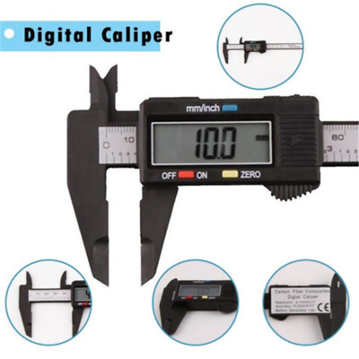 LCD Metal Digital Gauge Vernier Caliper Electronic Micrometer Tool 150mm 6inch