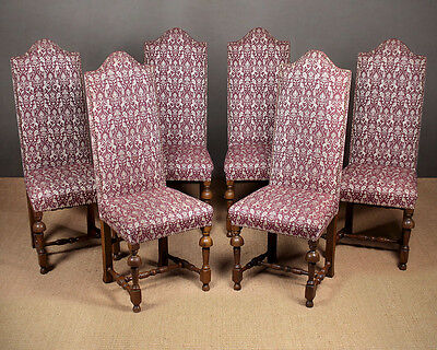 Set Of Six 17th.c. Style Dining Chairs