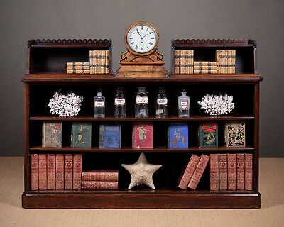 Antique Oak Open Bookshelves c.1870.