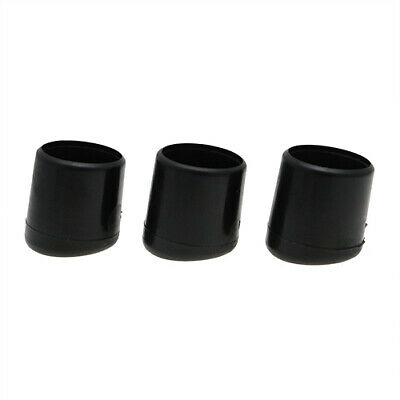 25 Pack Angled Chair Ferrules 19mm, Round Chair Feet, Slip On Plastic Covers