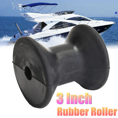 3 Inch Mounting Rubber Stop Roller Black Boat Wheel Molded Bow For Yacht Trailer
