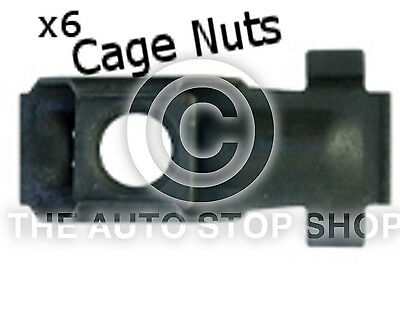 Cage Nut 6MM Drilling 10MM Thickness 1,5-5MM Renault Avantime//Clio etc 253 20PK