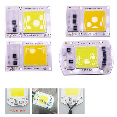 220V COB LED Chip 20W 30W 50W 100W Floodlight Integrated Smart IC Driver Lamp