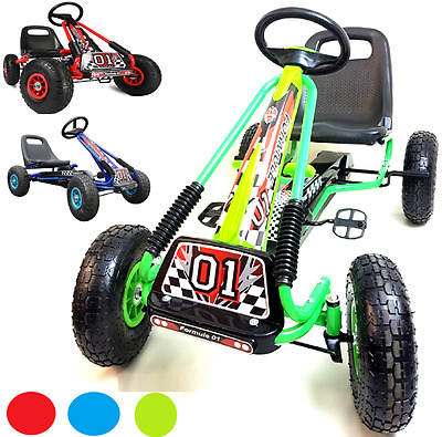Pedal Kart Children's Pedal Ride On Car Racing Toy Rubber Wheels Tyers Go Kart