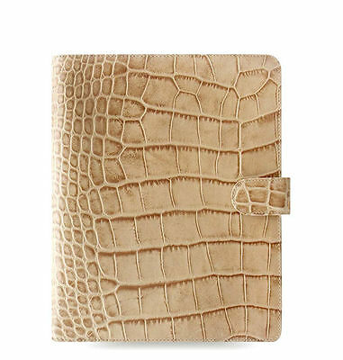 New Filofax A5 Size Classic Croc Organiser Planner Diary Fawn Leather - 026013