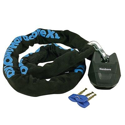 Oxford Hardcore XL Chain & Lock - 2M - Motorcycle Bike Scooter Security - OF15