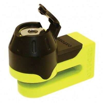Oxford Mini T Disc Lock Security Motorcycle - Scooter - 5.5mm Pin - Yellow