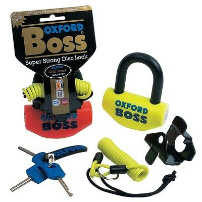 Oxford Boss Motorcycle - Scooter Security Disc Lock - Orange