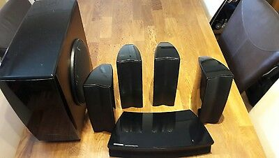 Quality Samsung 5.1 Home Cinema Surround Sound Speakers Front Rear Centre Sub