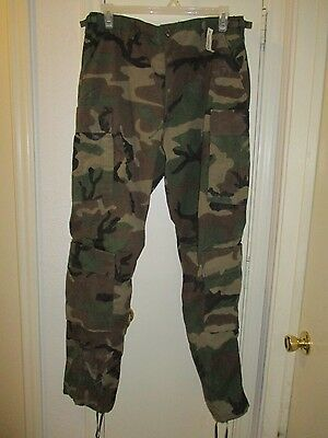 New BDU-Woodland Camouflage Aircrew Class 1 Combat Trouser! Size Medium-Long.