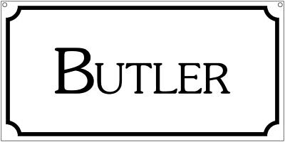 Butler- 6x12 Aluminum Estate Mansion House Ranch sign
