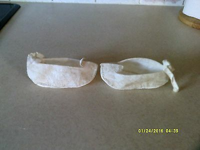 Antique/ Victorian Baby's Lace Christening Bootees/ Shoes
