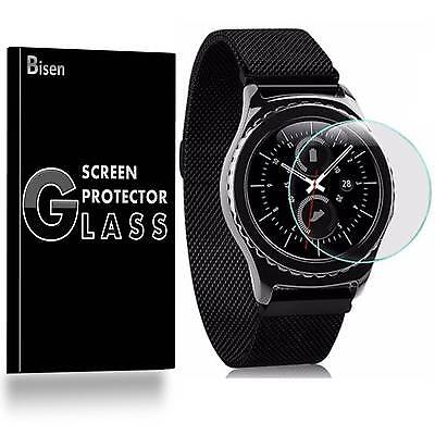 Samsung Gear S3 Frontier [BISEN 3-PACK] Tempered Glass Screen Protector Guard
