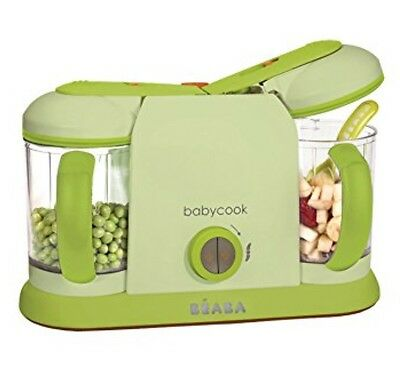 Beaba BabyCook Pro 2X 4-in-1 Baby Food Maker Blend Steam Defrost Reheat