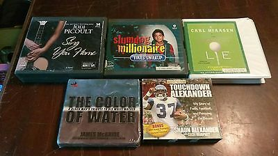 Lot of 5 books on cd slumdog millionaire. Lie. Sing you home