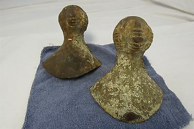 Lot of 2 Antique Ball and Claw Cast Iron Tub Feet