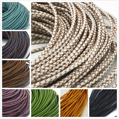 Genuine Round Leather Cord for DIY Jewelry Necklace Bracelet Making String &