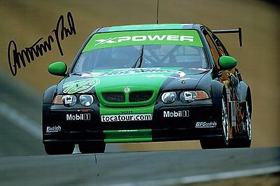 Anthony REID SIGNED British Touring Car Driver MGZS Autograph Photo AFTAL COA