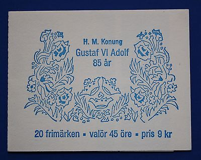 Sweden (767a) 1967 King Gustaf VI Adolf MNH booklet