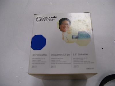 "Corporate Express 2HD IBM formatted diskettes 3.5"" 1.44 MB 25 pack floppy disks"