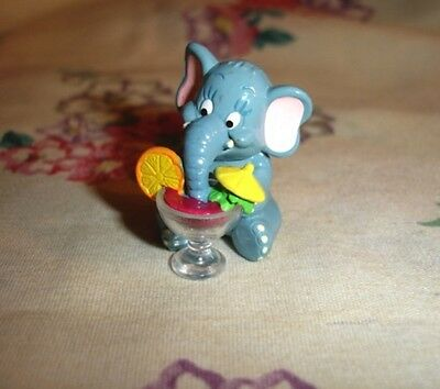 Mini Elephant with Cocktail Tropical Drink.  Cute!