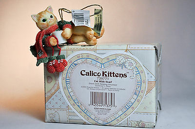 Calico Kittens: Cat With Scarf - 720771 - Hanging Ornament
