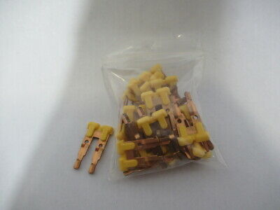 Automation Direct DN-2J4Y Terminal BLock Jumper 2 Pole Yellow 25 A 75Pack  USED