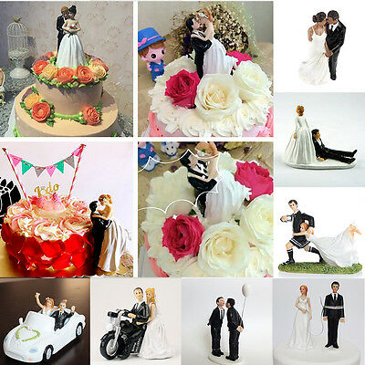 Bride Groom Resin Wedding Cake Topper Couple Figurine Romantic Decoration Favor