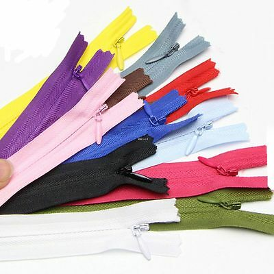 10Pcs Garment  Accessories Clothes Sewing Closed End Nylon Invisible Zippers