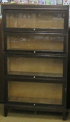 Antique Barrister Bookcase / 4 Drawer